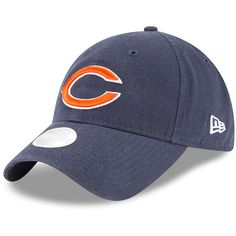 024c4a1ab3e1eb Women's Chicago Bears New Era Navy Preferred Pick Primary 9TWENTY  Adjustable Hat, Your Price