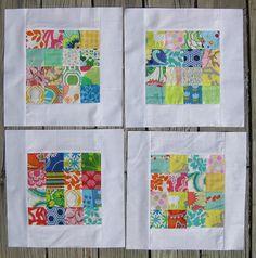 scrappy quilt blocks {do good may block by junienone, via Flickr}
