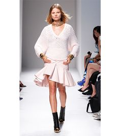 @Who What Wear - Balmain Spring Summer 2014 LOVE this sweater!