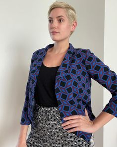Testing out just how many prints I can mix together with my new #grainlinemorris blazer. Paired with all previous #memade pieces (liberty #soipussybowblouse , mushroom print #shirtno1 , and my geometric #freerangeslacks ) #minerva #minervafabrics #minervamakes #grainlinestudio #grainlinepatterns #grainlinemaker #morrisblazer #grainlinestudios #printmixing #patternmixing #memadeeveryday #sewistsofinstagram ( #📷 @jaclynbsewing ) Blazer Pattern, Studio S, Pattern Mixing, Slacks, Mushroom, Liberty, Fabric, Prints, Jackets