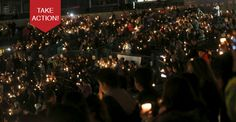 Thousands gathered at the 66ers stadium and churches around the country to proclaim San Bernardino for God.