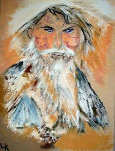 Eskimo Shaman Oil On Guesso Board 8x10 $325. Major Credit Cards Accepted