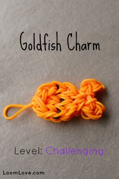 How to Make a Rainbow Loom Goldfish Charm