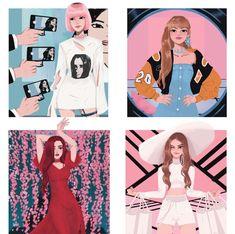 kpop fanart blackpink ~ kpop fanart & kpop fanart bts & kpop fanart nct & kpop fanart blackpink & kpop fanart stray kids & kpop fanart red velvet & kpop fanart exo & kpop fanart twice Kpop Girl Groups, Korean Girl Groups, Kpop Girls, Blackpink Jisoo, Fan Art, Kpop Anime, Black Pink Kpop, Blackpink Memes, Blackpink Photos
