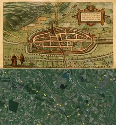 Kalkar Germany Map Then And Now Maps Pinterest - Germany map then and now