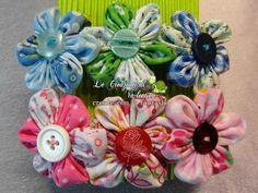 Mollette per capelli.. fiori in stoffa fatti a mano