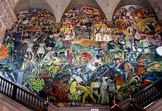 Diego Rivera Panorama of Mexican History in the Palacio Nacional, Mexico City
