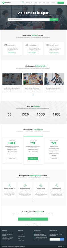 iHelper is a wonderful #PSD #template for Help Desk, #Knowledge Base and FAQ website with 3 amazing homepage layouts and 16 organized PSD pages download now➯ https://themeforest.net/item/ihelper-helpdesk-and-knowledge-base-psd-template/16918606?ref=Datasata
