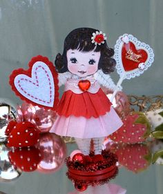 Vintage Inspired SuGaR SwEeT Valentine Paper Doll by saturdayfinds, $14.00