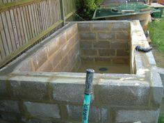 1000 images about cinder blocks on pinterest cinder for Concrete block pond construction