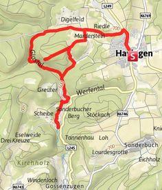 Karte / Das Glastal und die Wimsener Höhle - Ein verschwundener Bach und eine Bootstour in den Bauch der Alb