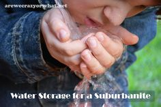 Water Storage for a Suburbanite