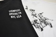 Thumpers — THUMPERS NY Bike Gul T-Shirt (White)