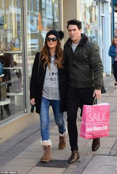 Close display: Binky Felstead, 26, and Josh 'JP' Patterson have been pictured out and abou...
