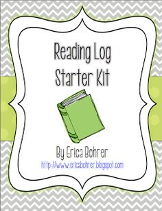 Classroom Freebies: Free Reading Log Starter Kit