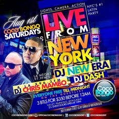 Coco Bongo Nyc  Saturday at Coco Bongo NYC. The Best New Thing in ‪#‎Queens‬. Everyone free Til 12am on Guestlist. (1 drink minimum)  Dress code : Shoes and Heels a Must for more info visit http://mtsproductions.com/coco-bongo-nyc/ for Details