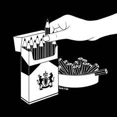Art Addiction ✍️ 그리기 중독! . . . #art #addiction #smoke