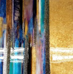 Stripe Abstract with resin by Lovaartist