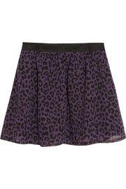 Karl LagerfeldSidonie leopard-print chiffon mini skirt