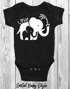 1ec055ecb5f4 Mom and Baby Elephant Love Onsie or Tee
