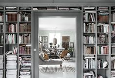 DIY Home Libraries with Scandinavian Style Bookshelves, Bookcase, Home Libraries, Inspired Homes, Ikea Hack, Interior Design Living Room, Kitchen Interior, Interior And Exterior, Sweet Home