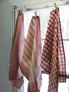 Red French Dishtowels -- you can never have too many dishtowels!