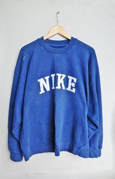 Vintage Nike JumperNavy BlueLargeBig Nike Embroidery