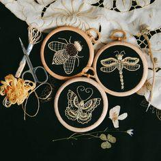 "3,936 Me gusta, 36 comentarios - Ellen Tyn (@liskin_dol) en Instagram: ""Gold&black small embroideries are available on foxychest.etsy.com .  #vsco #vscocam #February…"""