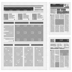 tabloid paper design | Generic newspaper layout, download royalty-free vector clipart (EPS)