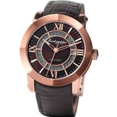 #rosegoldwatchesformen Montegrappa NeroUno Brushed Rose Gold PVD Automatic Watches Check https://www.carrywatches.com