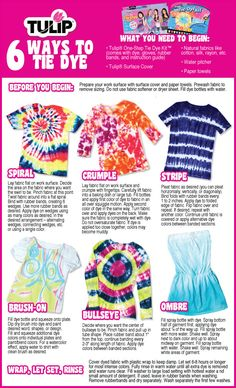 The Shed: Tie Dye Summer  DIY, How to get deired effect