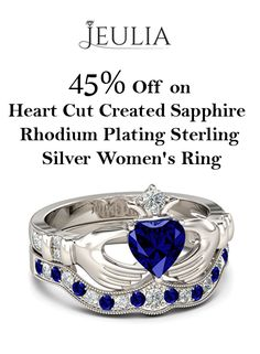 At JUELIA, they are offering 45% discount on Heart Cut Created Sapphire Rhodium Plating Sterling Silver Women's Ring. Grab up now and avail this offer.  For more Jeulia Coupon Codes visit:  http://www.couponcutcode.com/stores/jeulia/