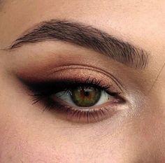 Natural Eye Makeup, Natural Eyes, Makeup For Brown Eyes, Smokey Eye Makeup, Face Makeup, Dead Makeup, Eyeshadow Makeup, Make Up Brown Eyes, Natural Brown