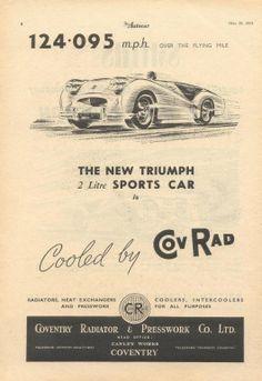 Triumph TR2 speed record advertisement