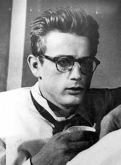 James Dean rehearsing a scene for Rebel Without a Cause.