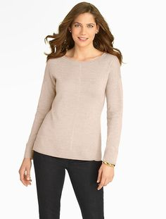 Talbots - High-Low Hem Merino Wool Sweater | |