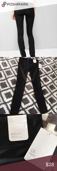 NWT GapFit Gfast leggings Fitted through the leg supper stretchy and comfy gap work out leggings. These are supper cute and butt flattering GAP Pants Leggings