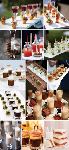 From Culinary Crafts - We LOVE this emerging trend of mini appetizers with perfectly paired mini beverages! (Check out those TINY Coca-Colas! Mini Appetizers, Mini Desserts, Healthy Appetizers, Party Desserts, Fingerfood Party, Think Food, Catering Food, Partys, Mini Foods