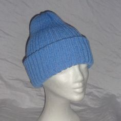 Light Blue Double Layered Hat  Icelandic Production by HuldaGK