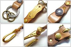 how to cover a brass ring with leather - Google Search