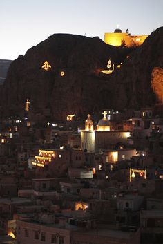 Maaloula, Syria at night #One day I'm gonna go to Syria and visit the beautiful country that it is