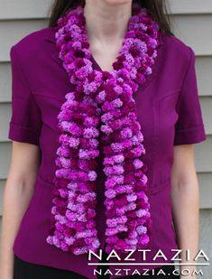 Free Pattern - Knit Pom Pom Scarf