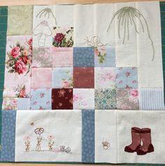 Blok 3 van Phoebe's Garden van Lesley McConnel voor Quiltshop 100 Rozen
