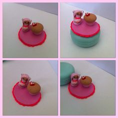 Cupcake and chibi figurine in a pink theme. Love them.