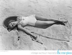 Betty Grable Sunbathing