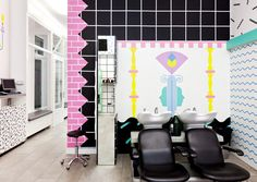Daring 80s Style Hair Salons in Slovenia by Kitsch Nitsch Photo