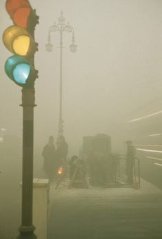 The Great Smog of '52  or Big Smoke was a severe air pollution event that affected London during December 1952. A period of cold weather, co...