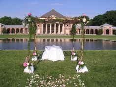 A lovely setting for a wedding in the Saratoga Spa State Park in Saratoga Springs, New York