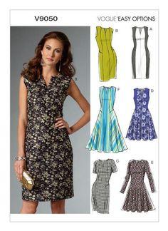 Easy Vogue Sewing Pattern - V9050 Misses'/Misses' Petite Dress … WeaverDee.com