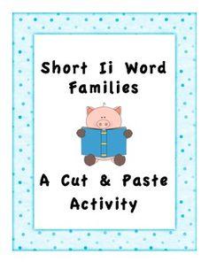 Short I i Word Families (Cut & Paste)